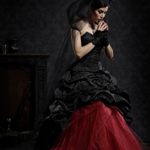 haute couture dark fashion bride